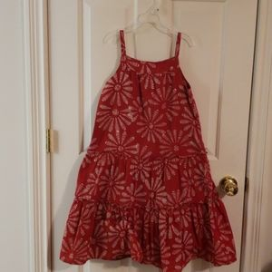 Gap Red and White Sundress